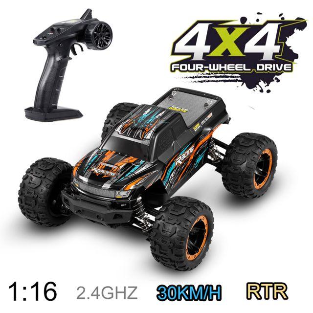Generic Linxtech 16889 1/16 30km / h 4WD Rc voiture Big Foot 2.4G voiture jouet à grande vitesse pour les enfants adultes orange