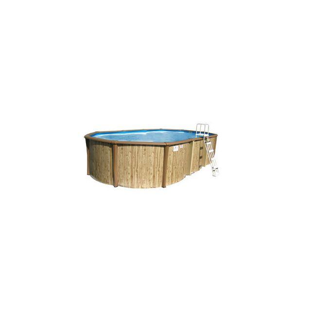 sunbay piscine hors sol r sine t le ovale liner bleu. Black Bedroom Furniture Sets. Home Design Ideas