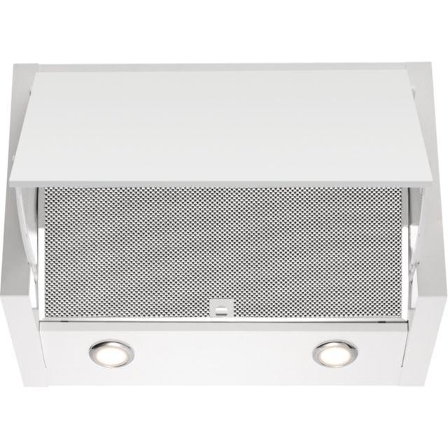 electrolux hotte escamotable 60cm 69db 650m3 h blanc. Black Bedroom Furniture Sets. Home Design Ideas