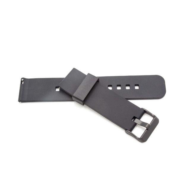 2fd35f1aa59 Vhbw - vhbw silicone bracelet noir pour smartwatch traqueurs de fitness  Fossil Q Crewmaster