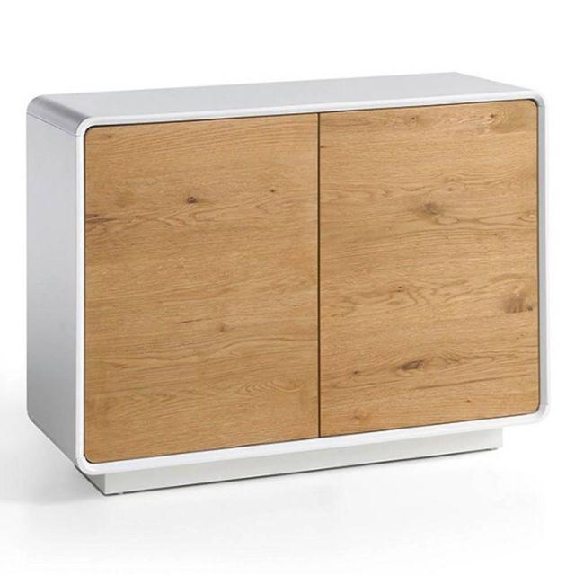 Inside 75 Buffet Design Scandinave Tally 2 Portes Laqué Blanc Mat