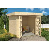 - Abri en bois Inka toit plat 5.97m²