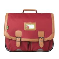 Tann'S - Cartable 2 compartiments 41 cm rouge salsa