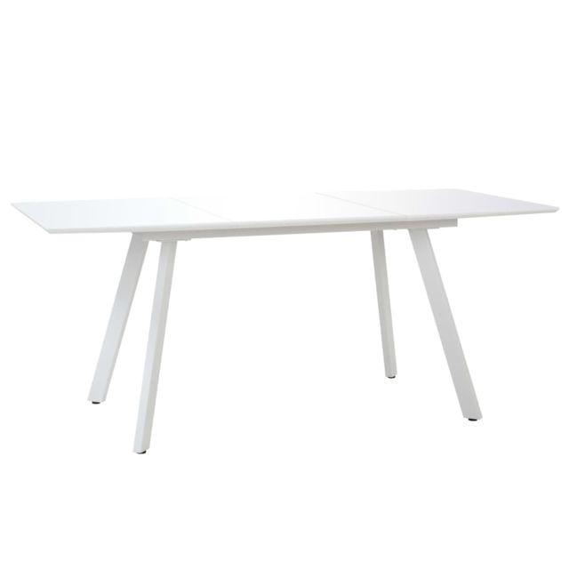 Stylé Tables selection Tarawa-Sud Table de salle à manger Blanc brillant 180x90x76 cm MDF
