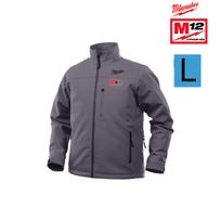 Milwaukee - veste chauffante grise M12 Hj Grey3-0 taille L sans batterie ni chargeur 4933451593