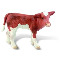 Bullyland GmbH - Figurine vache marron/blanc : Veau