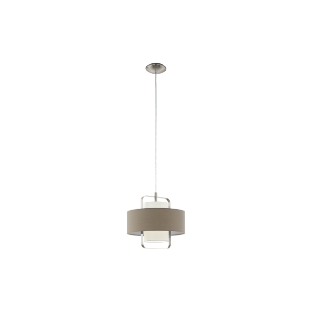 alfena suspension abat jour 60cm taupe gris vendu par rueducommerce 10860371. Black Bedroom Furniture Sets. Home Design Ideas