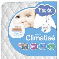 P'TIT Lit - Matelas bébé climatisé 60 x 120 60 x 120 - Epaisseur 12cm