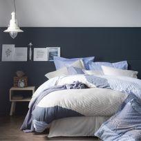 Essix - Housse de couette Satin de coton Zahara Bleu - 140 x 200 cm