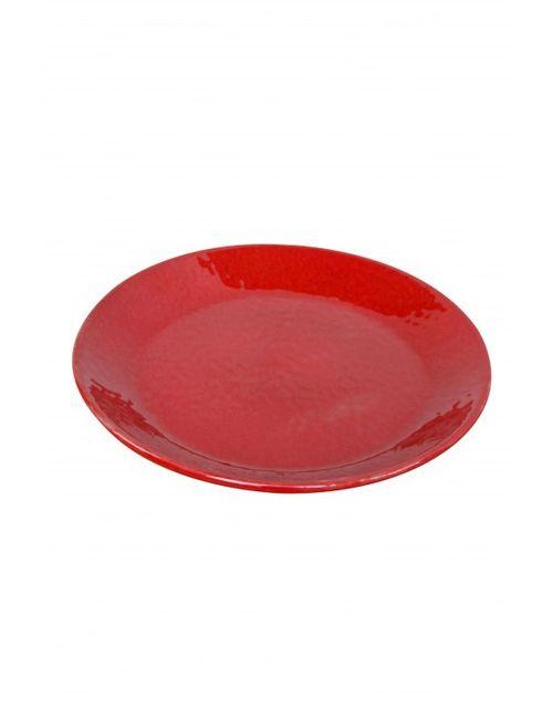 Decoshop Plat de service rouge 31 cm