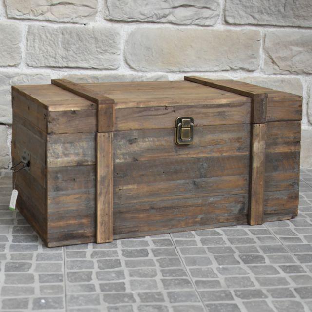 L Originale Deco Grand Coffre De Rangement Bouteille Table Basse Bois 90 Cm X 56 Cm X 48 Cm Pas Cher Achat Vente Coffre De Jardin Rueducommerce