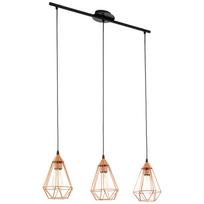 Lampe pendante couleur cuivre Tarbes 79 cm