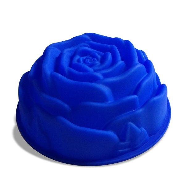 Totalcadeau Moule en silicone en forme de rose 24 cm