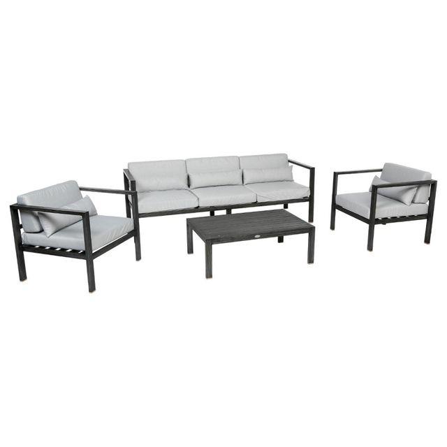 Hespéride - Salon de jardin Figari - 5 Places - Aluminium ...