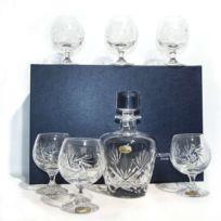 Cristal de Paris - Service Cognac 7 P Diamant en cristal taillé main
