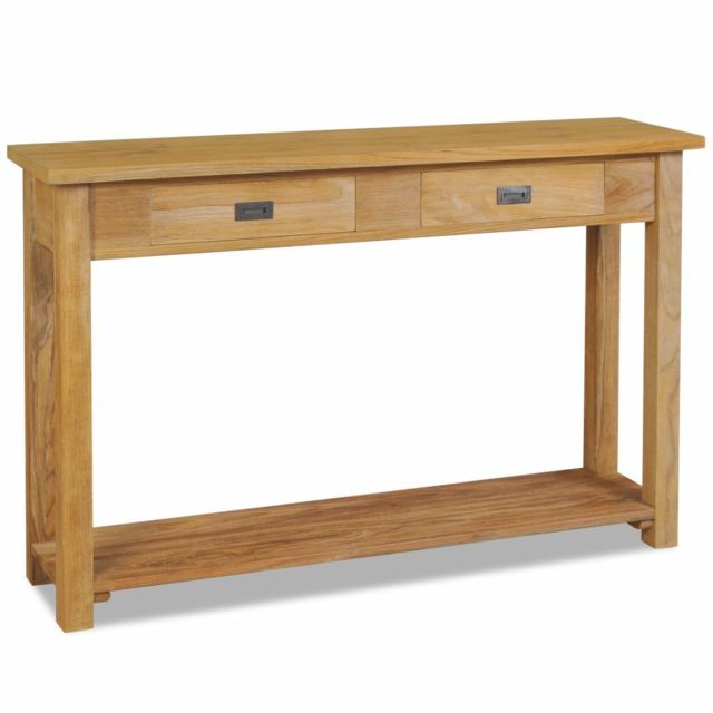 sublime Consoles selection Berlin Table console Teck massif 120 x 30 x 80 cm