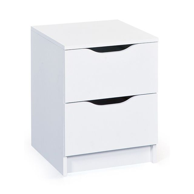 Altobuy Jenny Blanc - Commode 2 Tiroirs