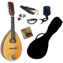 Msa - Pack Mandoline nature en Tilleul avec Accordeur électronique & Accessoires