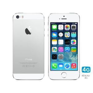 apple iphone 5s 32 go argent pas cher achat vente smartphone classique ios rueducommerce. Black Bedroom Furniture Sets. Home Design Ideas