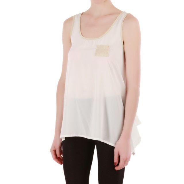 2aaf07c2fa0b Lamodeuse - Débardeur ample blanc Taille unique - pas cher Achat   Vente  Débardeur femme - RueDuCommerce