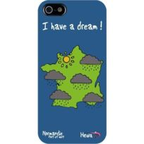Hihihi - Coque rigide bleue Normandie I have a dream pour iPhone 5/5S