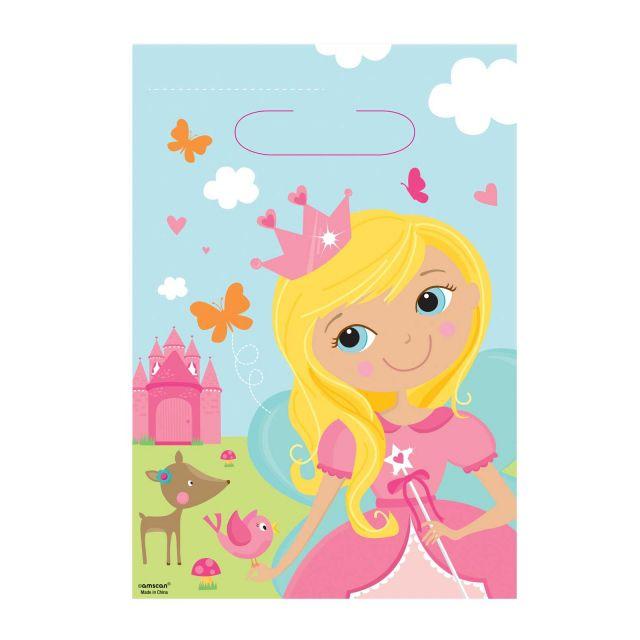 Amscan - Sachets Anniversaire Birthday Princess x8