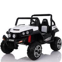 Voiture Electrique - Grand 4x4 buggy voiture électrique enfant 2 places pneus Eva 24 Volts Blanc