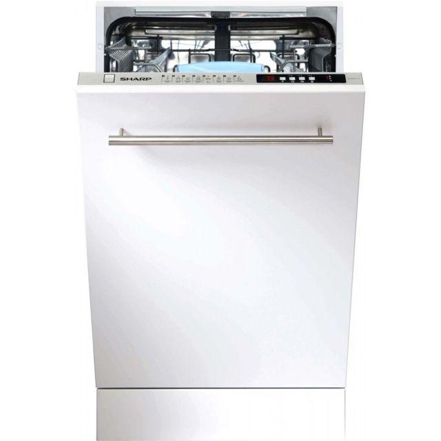 sharp lave vaisselle tout integrable 45 cm qws 32 i 472 x achat lave vaisselle a. Black Bedroom Furniture Sets. Home Design Ideas