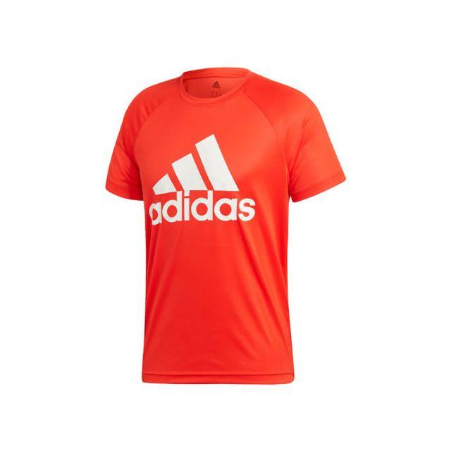 Adidas T shirt Design 2 Move Logo manche courte rouge