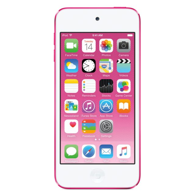 APPLE iPod touch 64 Go Rose - MKGW2NF/A iPod touch. Design ultrafin, appareil photo iSight 5 Mpx, iOS 8, dragonne et Apple EarPods.