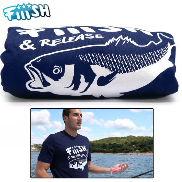 Fiiish t shirt bar bleu marine