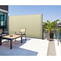 IDMARKET - Paravent extérieur rétractable 300x180cm écru store vertical