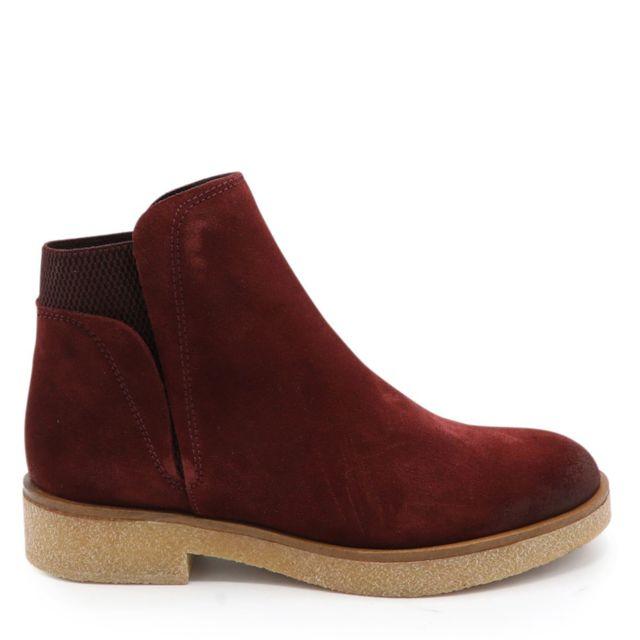 Porronet - Boots Beve Bordeaux - pas cher Achat   Vente Boots femme -  RueDuCommerce 67a7edd3d01f