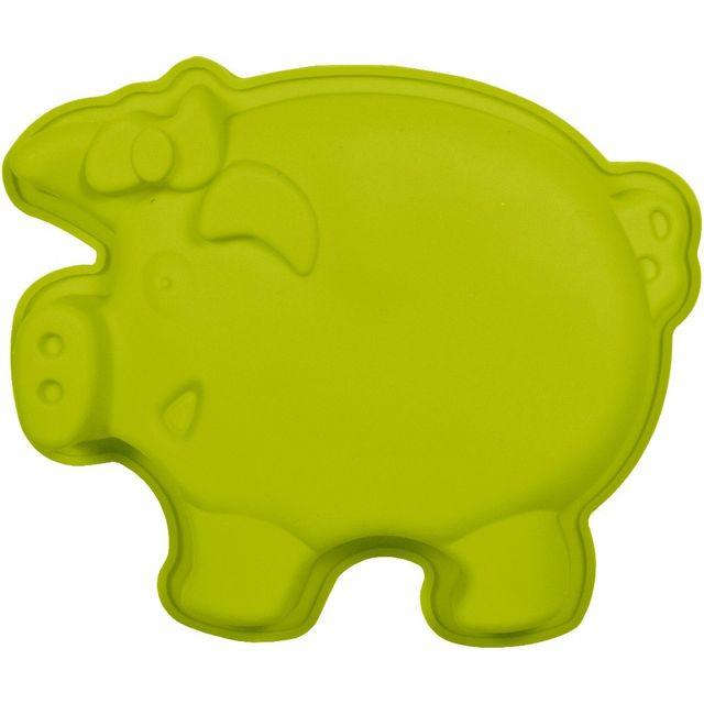 Promobo Moule à Gateau en silicone Cochon Forme Ludique Animal Vert