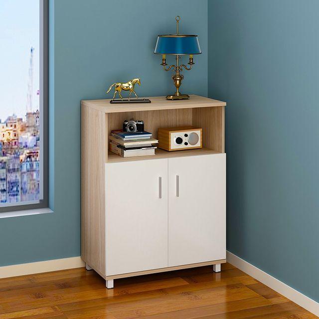 rocambolesk superbe meuble de rangement etagre de bureau avec 2 portants pour salle de sjour