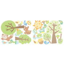 MARQUE GENERIQUE - Stickers chambre bébé Histoires d'animaux