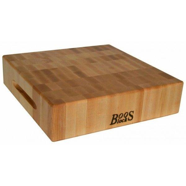 Boos Block Planche en bois d'érable Boos Blocks 38x38x7.5cm épaisse