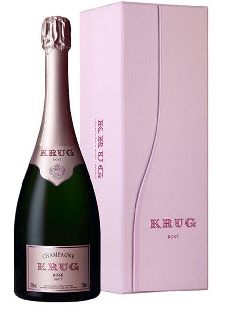 Champagne Krug - Rose Bouteille avec Coffret