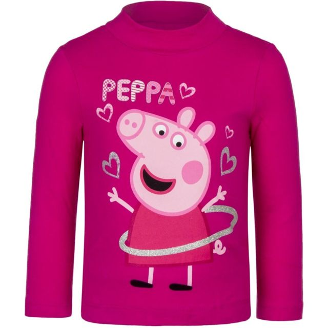 Marque Generique - Pull Peppa Pig T-shirt manche longue 8 ans rose ... 2eaeaded32e