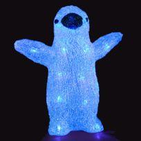 Feerie Lights - Guirlande de noël lumineuse Pingouin - Bleu