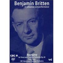 Vai - Benjamin Britten In Rehearsal & Performance - Dvd - Edition simple