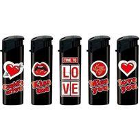 """Belflam - Piezo - Le lot de 5 briquets """"Love Iii"""