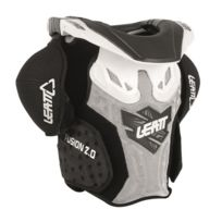 Leatt Brace - Gilet de protection enfant Fusion 2 Junior Blanc Noir