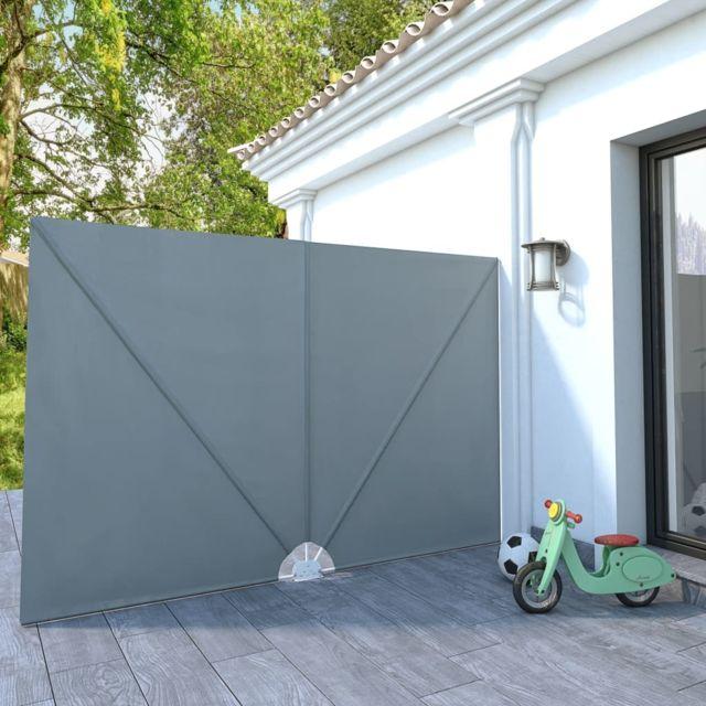 Vidaxl Auvent latéral pliable de terrasse Gris 300 x 200 cm