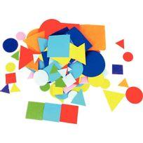 formes géométriques adhésives en feutrine - sachet de 150