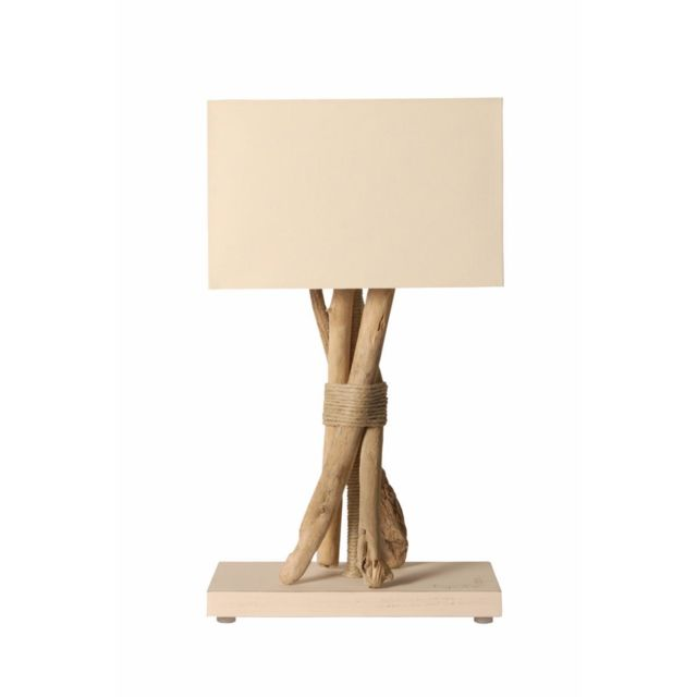 Bo Time Lampe A Poser Artisanale En Bois Flotte Naturel