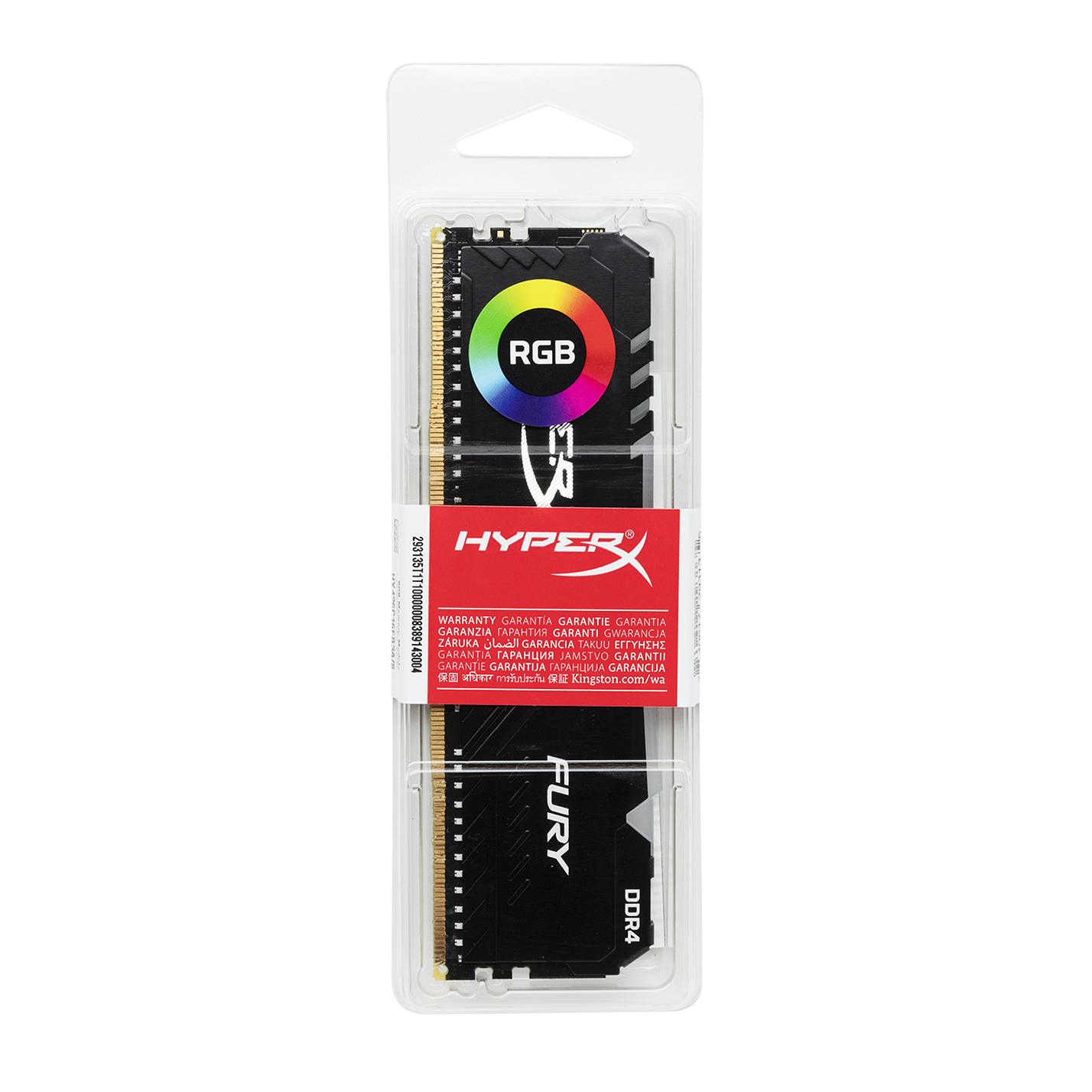 Mémoire Fury RGB 2 x 16 Go DDR4 3200 MHz HyperX Noir