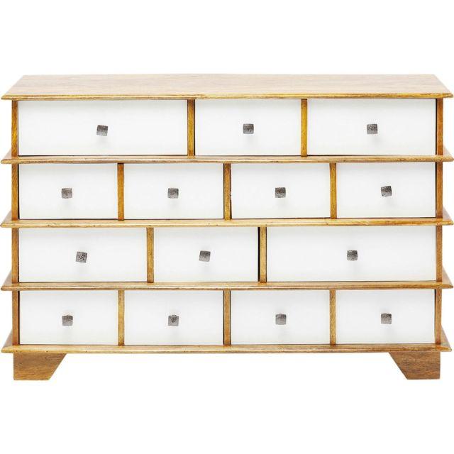 Karedesign Commode Fuji 8 tiroirs blanche Kare Design