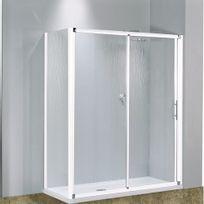 Novellini - Porte coulissante 2 panneaux verre transparent Lunes - 114 à 120 cm