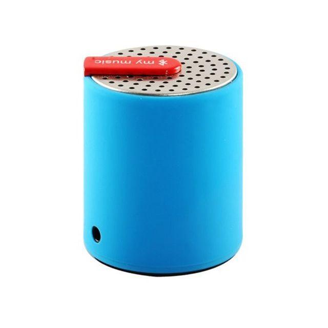 Yonis - Mini enceinte bluetooth universelle smartphone tablette Bleu